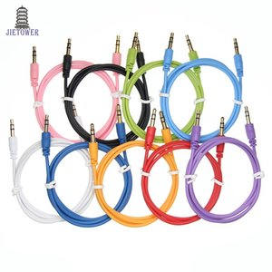 Aux Kablosu Erkek Ses Kablosu renk Araba Ses 3 5mm Jack Tak AUX Kablosu Kulaklık MP3 300 adet