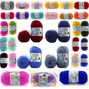 50g Doce de Algodão Macio Bebê Tricô Fio de Leite de Algodão Grosso Fios para Tricô Cachecol Tricô Mão Crochet