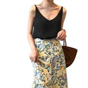 les femmes sexy col V camisoles couleur bonbons haut sans manches chemises backless Hauts pour femmes de haute qualité Vêtements Roche Court Tanks Skinny Slim Shorts