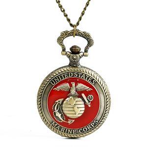 Großhandel Quarz Uhren Kette Bronze poliert Erde Adler Taschenuhren PW163