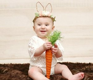 Baby Rabbit Easter Headband Floral Rabbit Ear with Flowers Hairbands for Girls Babies Easter Festival Party Decoration