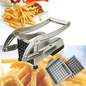 Paslanmaz Çelik French Fries Kes Patates Sebze Doğrama Küp şeklinde kesme makinesi Kesme Makinası 2 Bıçaklar Farklı Delik sayısı