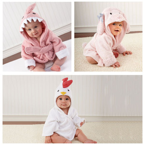 Sevimli Erkekler Kızlar Kapşonlu Bornozlar Havlu Hayvan Kulaklar Bornoz Bebek Bebek Uzun Kollu Kapüşonlular Kemer Yıkanma Elbiseler pijamalar BH1162 TQQ