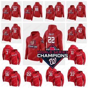 2019 Champions Hoodie Juan Soto Max Scherzer Starlin Castro Stephen Strasburg Dozier Rendon Ryan Zimmerman Howie Kendrick Jersey