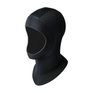 5mm Neoprene Scuba Diving Hood With Shoulder Snorkeling Equipment Hat Cap Winter Swim Warm Wetsuit Spearfishing