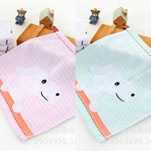 TLccG Pure Cotton newborn baby baby children's square scarf gauze cartoon small wash water absorbing maternal face face Towel small square t