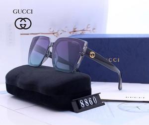 8860 marque de luxe Designer lunettes de soleil de luxe des hommes classiques de style de cadre de pare-soleil en plein air et des femmes avec le cas original