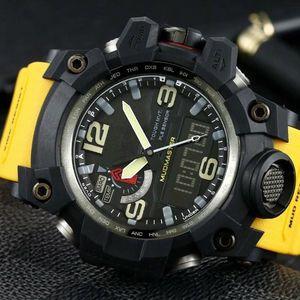 los hombres mirar GWG1000 reloj digital 60mm originales Movimiento hombres YG deportes de fábrica de pulsera impermeable con caja de acero