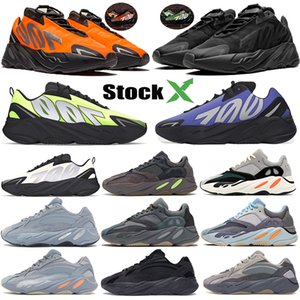 700 Laufschuhe orange 3M Reflective Triple Black Phosphor Knochen kanye Designer statische Krankenhaus Carbon blau für Männer Frauen Sneaker Trainer