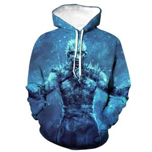 GOT 3D Digital Print Long Sleeve Mens Hoodies Designer Game Film Fashion Mens Hooded Sweatshirt Homme Clothing
