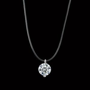 Nuevo collar de lágrimas de sirena Meteorito colgante transparente línea de pesca Collar de mujer invisible Joyería cadena de clavícula de alta calidad