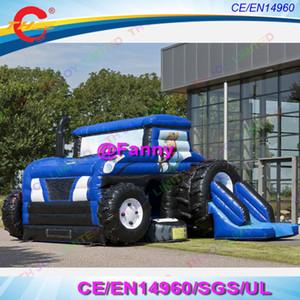 Gorila inflable de uso múltiple para tractor con objetos y toboganes 2019new tractor inflable de diseño Bounce house con tobogán