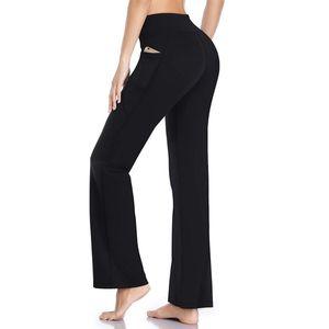 SIFT 2020 Fashion Women Sports Pants Yoga Running Jogging Bootleg Pants Inner Pocket Light Weight High Waist Leggings Fitness