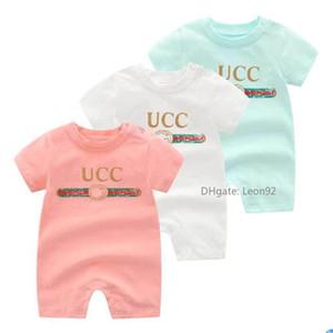 Marca di modo a strisce pagliaccetti del bambino tuta del cotone Outfit Newborn Estate manica corta pagliaccetto Kids Designer vestiti delle ragazze tuta infantile