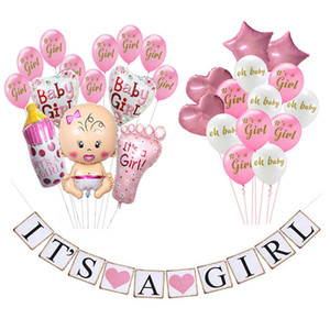 Baby Shower Это мальчик девочка банер О Baby Balloons Пол Reveal Birthday Party украшения Дети бейби шауэр Party Event Подарки