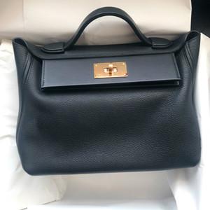 Genuine Leather Shoulder Single Ladies mano Borse Donna di lusso Donne Borse del progettista solido di colore borsa Borse Mujer CC