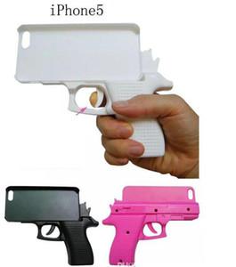 3D Yaratıcı Gun Moda Cap Sert PC Kılıf için Iphone X XS MAX XR 8 7 Artı 6 6S SE 5 5S 5C 4 4G 4S Oyuncak Cep Telefonu Cilt Kapak Lüks 1pcs Şeklinde