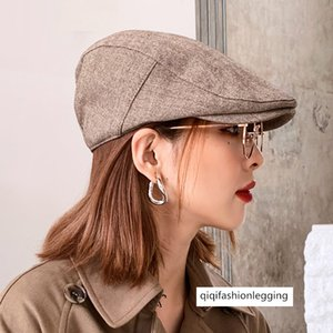 Autumn solid color beret young and middle-aged gentleman duck tongue hat men's fashion all-match British painter forward cap female