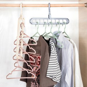 4pcs Multi-port Support Circle Clothes Hanger Clothes Drying Rack Multifunction Space Saving Hanger Magic Clothes Hanger