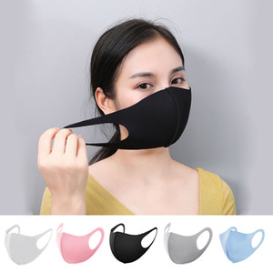 DHL Free Ship Designer Mouth Face Mask Black Cotton Blend Anti Dust and nose protection K-POP Mask Fashion Reusable Masks for Man Woman