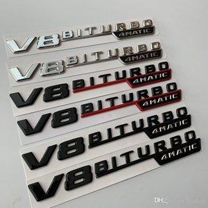 Dedicated Mercedes -B V8biturbo4matic Leaf Board Side Standard V8 Displacement Standard E -Class S -Class Modified Amg Logo Stickers