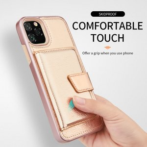 For Motorola G7 Power Play E6 (US Version) Comfortable Touch Dual Layer Hybrid Card Slot Design Phone Case