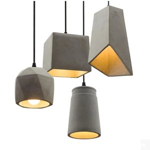 Cemento Industrial Bar Restaurante Dormitorios Loft Vintage iluminación pendiente