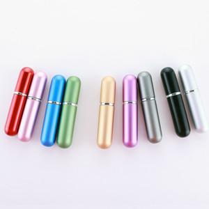 5ml botella del aerosol de perfume recargable portátil botella de cristal vacía de perfume envases cosméticos de aluminio Atomizador de viajes mayorista