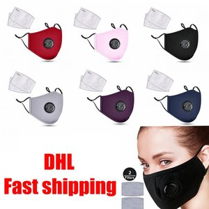 DHL Shipping Breathing Valve Filter Masks Washed Retractable Rope Models Dustproof Filter Mask Can Add Filter Pad Cotton Masks X252FZ