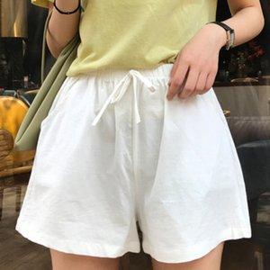 Женщины лето Шорты полиэстер Брюки высокой талией повелительницы свободные и удобные Горячие бриджи Casual Garments Девочек