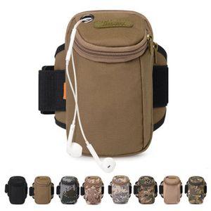 Running Arm Packs Arms Belt Cover Multifuncional Camuflaje Smart Phone Bag Equipo de camping Outdoor Fitness Bag ZZA1039