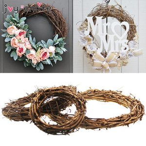 heap Artificial & Dried Flowers Wedding Decoration Wreath Natural Rattan Wreath Garland DIY Crafts Decor For Home Door Grand Tree Christm...