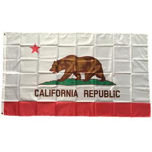 EUA California State Flag 3x5 ft poliéster Imprimir Bandeira Estado Novo Banner of America US alta qualidade com pavilhão de suspensão transporte da gota