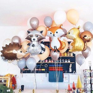 1pc Large Fox Hedgehog and Squirrel Foil Event & Supplies Festive & Party Supplies Balloons Animal Birthday Party Decorations Kids BabyShowe