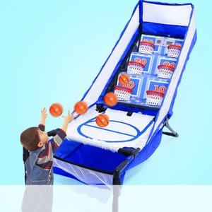 Placar eletrônico Hoops Console Game Sportmuscle Crianças Versus Indoor esportes com bola Brinquedos Indoor Fitness Equipment Bouncy Trampolim