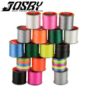 JOSBY 300M 500M 1000M 4 Пряди 8 Пряди Многоцветный PE Плетеный провод Multifilament лески Fishing Line Япония 2020