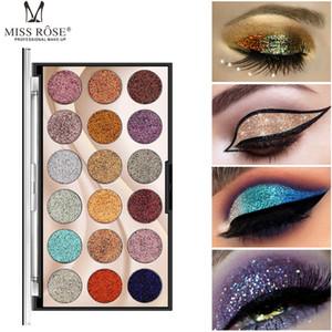 18 Цвет Блеск палитра теней Eye Shadow Сияющий паллеты MISS ROSE Фирменные Professional Star Eyes сценический макияж