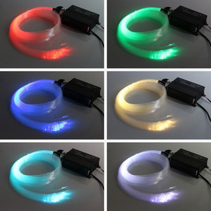 RGB 다채로운 LED 플라스틱 광섬유 별 천장 키트 라이트 150pcs 0.75 2M + 16W RGB 광섬유 조명 엔진 + 24key 원격