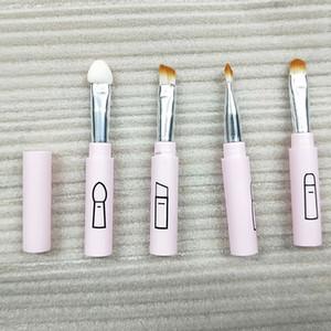 1pcs 4 in 1 Retractable Makeup Brush Portable Lipbrush Eyelash Eyeliner Eyeshadow Eyebrow Brush Travel Make up Brushes Maquiagem