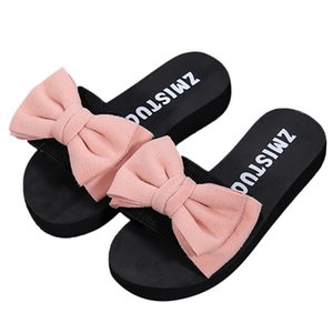 Slippers Women Summer Bow Summer Sandals Slipper Indoor Outdoor Flip-flops Beach Shoes Female Fashion Shoes zapatos mujer #7