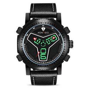 Многофункциональный Мужские часы водонепроницаемый электронные часы спорта LED Dual Display Meter