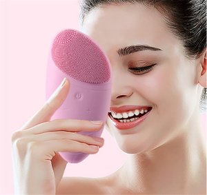 Waterproof Electric Face Scrubbers Soft silicone electric cleanser can replace the battery cleanser brush Cleansing Face Skin