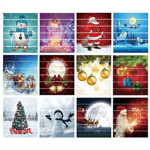 6шт / комплект водонепроницаемого ПВХ Лестничных наклейки снеговик Сант-Клаус рождественского этаж Stairway наклейка Новогоднее украшение для дома