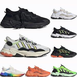 Adidas Ozweego adiPRENE shoes 2019 Тройной Черный Ozweego Мужчины Женщины Повседневная Обувь Pride 3M Светоотражающий Ксено Неоновый Зеленый Жирный Оранжевый Хэллоуина Спортивные