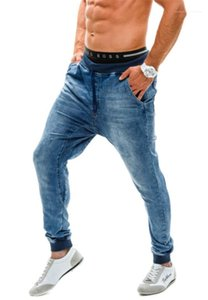 Jeans Male European And American Thread Waist Loose Mens Jogging Pants Designer Pants New Elastic High Waist