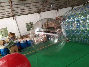 الحرة الشحن المشي 2M Inflatabe المياه واضحة الكرة PVC الشفاف معدات اللعب الرقص كرة الماء