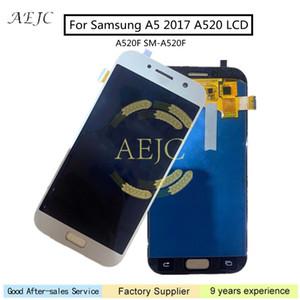 """5.2"""" için Samsung Ücretsiz Araçlar ile Galaxy A5 2017 A520 A520F SM-A520F LCD Ekran Dokunmatik Ekran Digitizer Meclisi"""