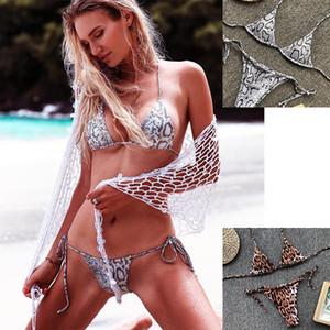 Sexy Leopard Triangle Bag Split Swimsuit Bikini Explosion high waist bikini designer women s bikini fashion swimwear 2019 Hot Sale