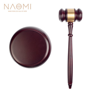 NAOMI Wooden Judge Hammer Handmade Craft Judge Auction Hammer Wood Gavel Sound Block Court Decoration Set
