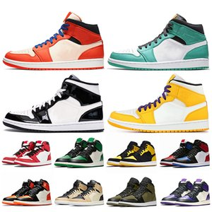 Nike Air Jordan retro 1 White 1s Homme Baskets OG 1 court Violet Pin Vert top 3 Chameleon Femmes Sports Run chaussure Shattered Backboard or Hommes designer chaussures sneaker